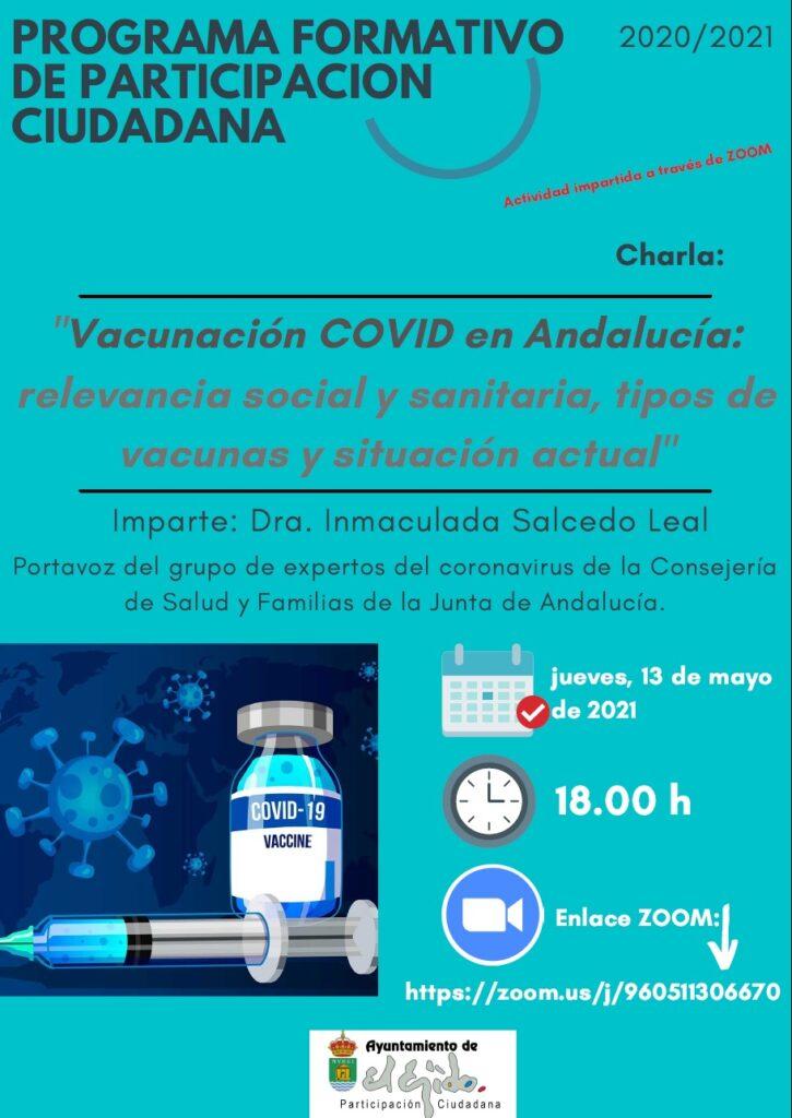 """Mayo. Charla/Taller """"Vacunación COVID en Andalucía"""""""